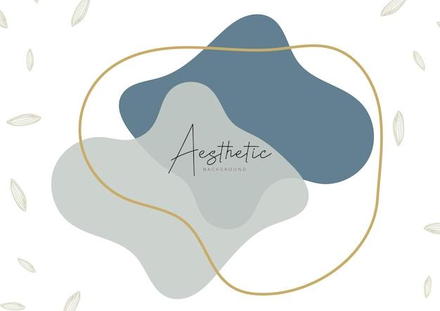 Szablony sztuki abstrakcyjnej z elementami kwiatowymi i geometrycznymi. organiczne tło. odpowiedni do postów w mediach społecznościowych, aplikacji mobilnych, projektowania banerów i stron internetowych, reklam internetowych. wektor mody tła