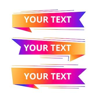 Szablony tekstowe stylu prędkość origami na baner