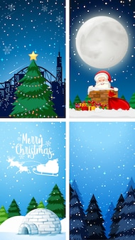 Szablony tło z motywem świątecznym