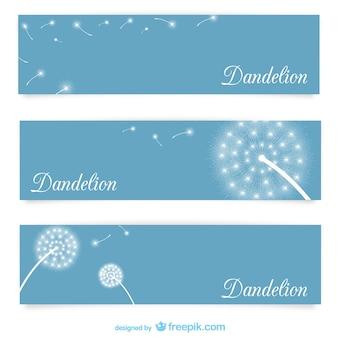 Szablony transparentu z dandelions