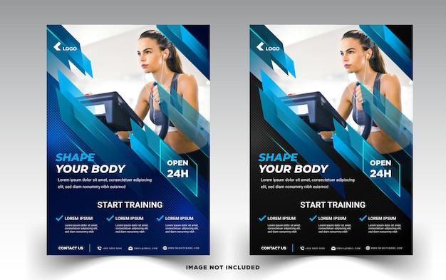 Szablony ulotek gym womens fitness