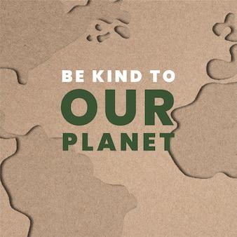 Szablony życzliwości dla planety dla kampanii światowego dnia ochrony środowiska