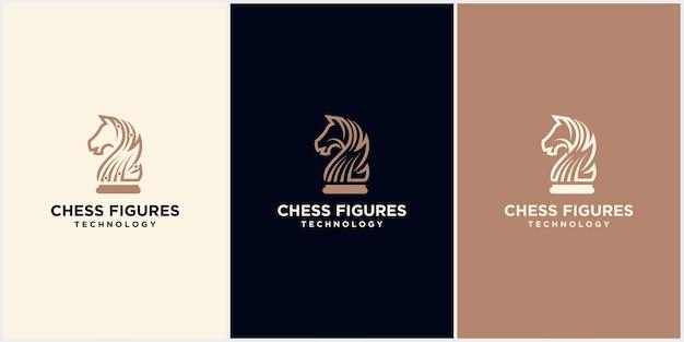 Szachowy król projekt, ikona pionka szachowego. gra planszowa, izolowana na niebiesko-białym tle, nowoczesne logo szachowe