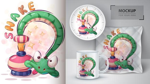 Szalona kobra plakat i merchandising