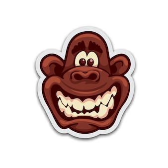 Szalona małpia naklejka