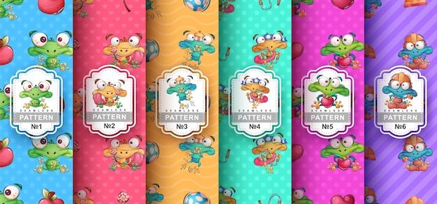 Szalona żaba - zestaw wzór