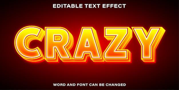 Szalony styl efektu tekstu