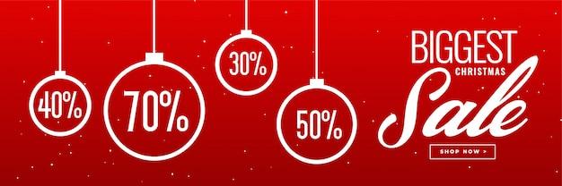 Szalony świąteczna sprzedaż i rabatowy sztandaru projekt