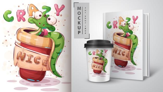 Szalony wąż plakat i merchandising