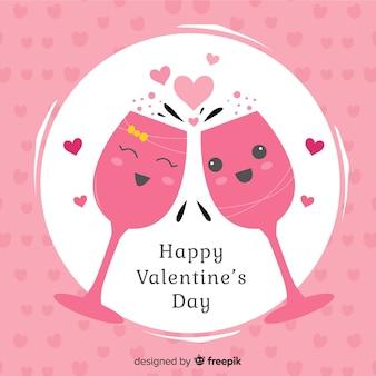 Szampański valentine tło