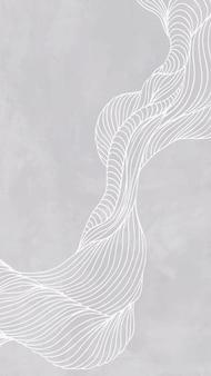 Szara abstrakcyjna linia rama telefon komórkowy tapeta wektor