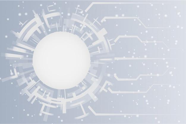 Szara biała abstrakcjonistyczna technologia okrąża tło
