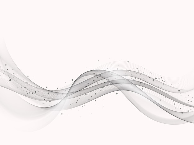Szara fala element z efektem brokatu szare tło przepływu fali