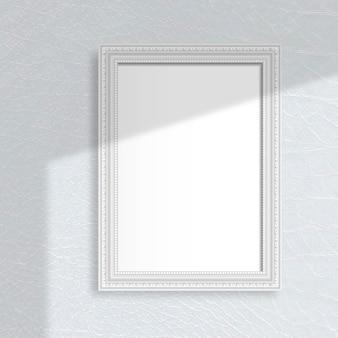 Szara ramka na szarej ścianie