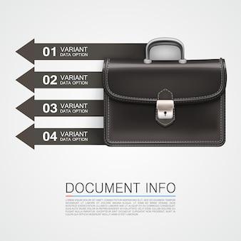 Szara torba informacje biznesowe art. ilustracja wektorowa