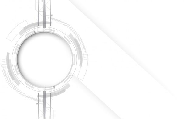 Szare białe abstrakcyjna technologii tła z różnych elementów technologii technologicznie komunikacji koncepcji innowacji tła
