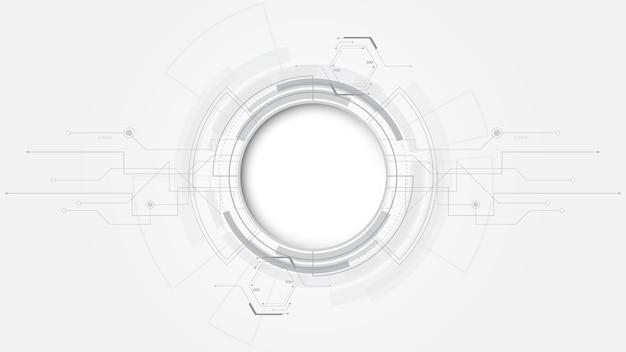 Szare białe tło technologii streszczenie