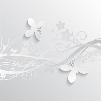 Szare kwiaty i motyle kontekst