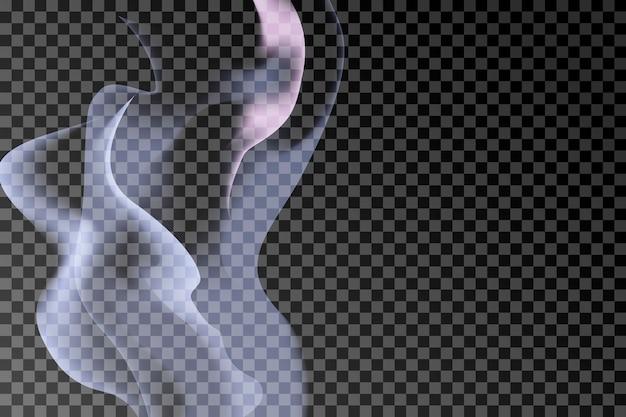 Szare tło dymu