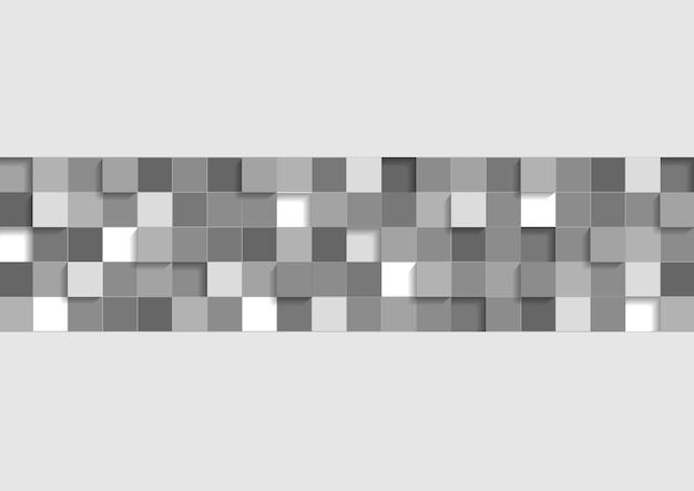 Szare tło geometryczne firmy. projekt wektorowy z kwadratami