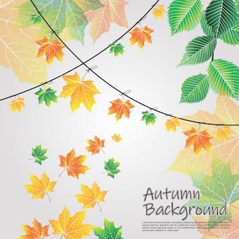 Szare tło jesieni