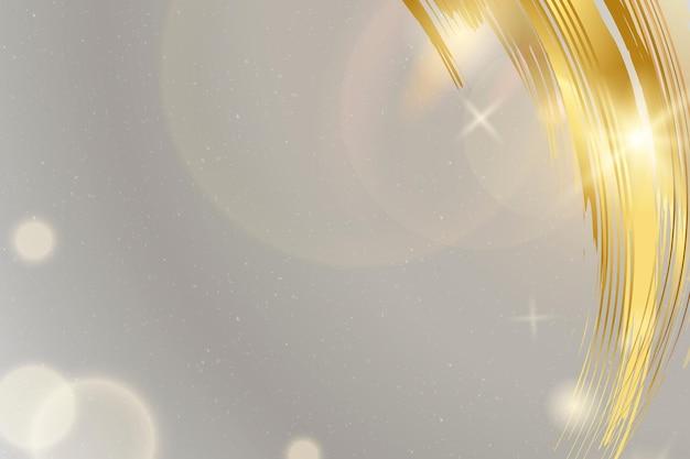 Szare tło wektor ze złotym pociągnięciem pędzla