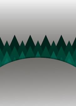 Szare tło z zielonymi trójkątami