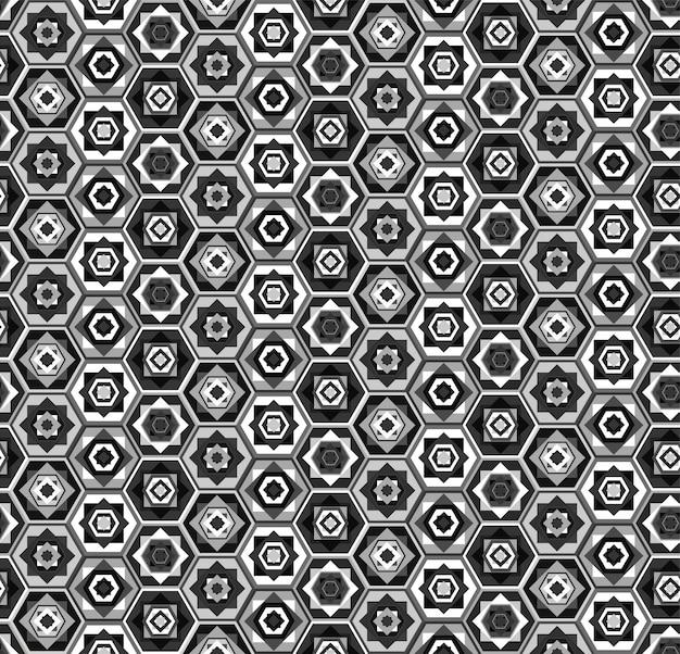 Szaro-biały wzór sześciokątów