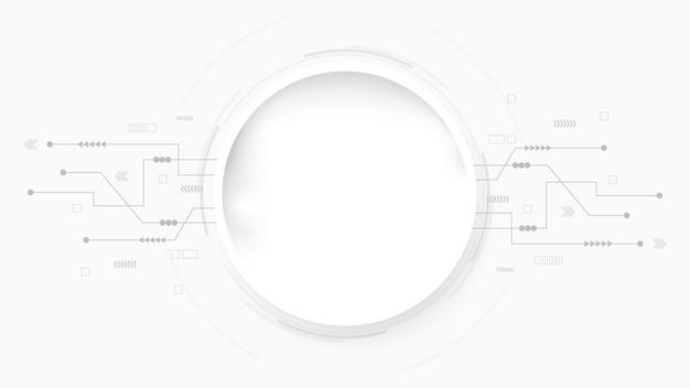 Szary biały abstrakcyjne tło technologii hi tech digital connect komunikacja zaawansowana technologia