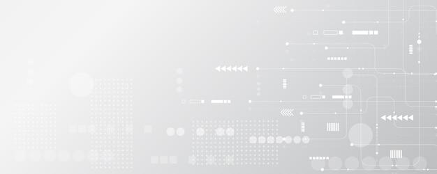 Szary biały abstrakcyjne tło technologiihi tech digital connect komunikacja zaawansowana technologia
