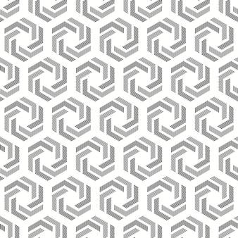 Szary i biały kręcony wzór sześciokątny