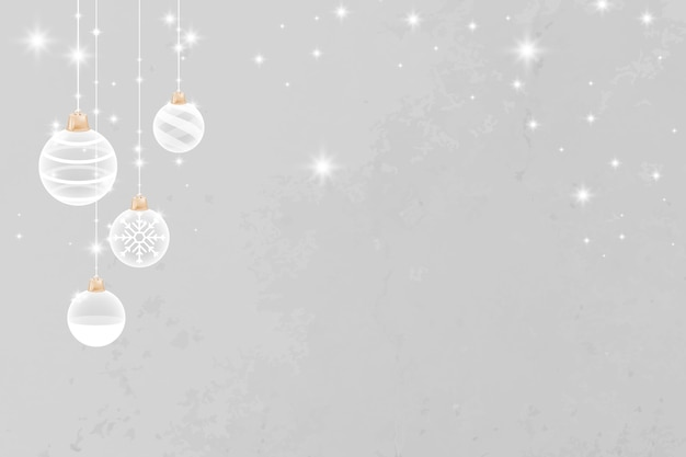 Szary merry christmas świecący cacko świąteczne tło
