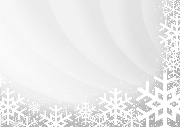 Szary tło boże narodzenie z płatki śniegu