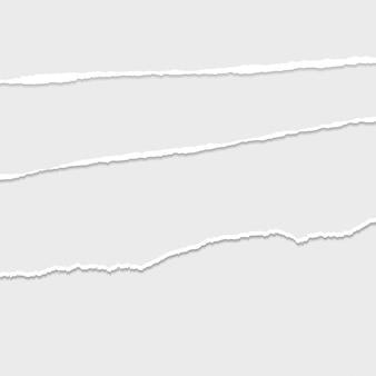 Szary wektor zgrywanie lub rozdarty papier przegroda tło