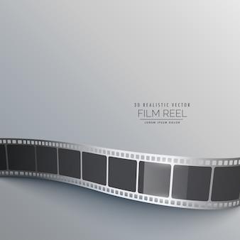 Szarym tle z taśmy filmowej