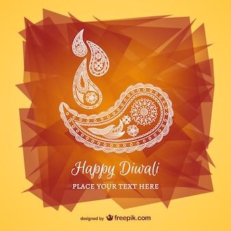 Szczęśliwa karta abstrakcyjne Diwali