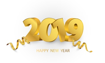 Szczęśliwego nowego roku 2019 tło.