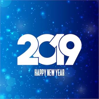 Szczęśliwego nowego roku 2019 typografii z kreatywnych wektor