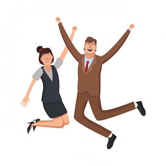 Szczęśliwi pracownicy biznesu