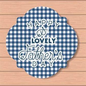 Szczęśliwy dzień ojca karty z drewnianym tle i ramki