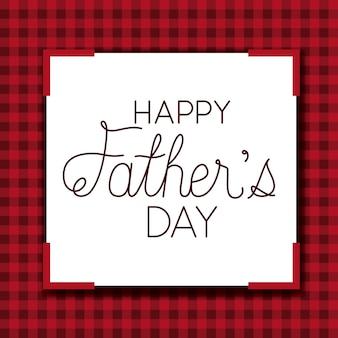 Szczęśliwy dzień ojca karty z tekstylnym tłem