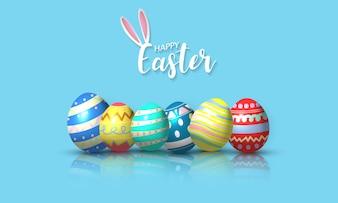 Szczęśliwy tło Wielkanoc.