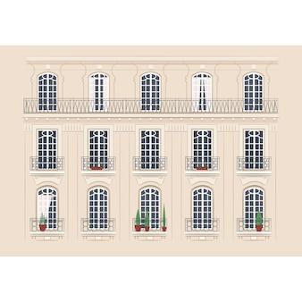Szczegółowa fasada budynku