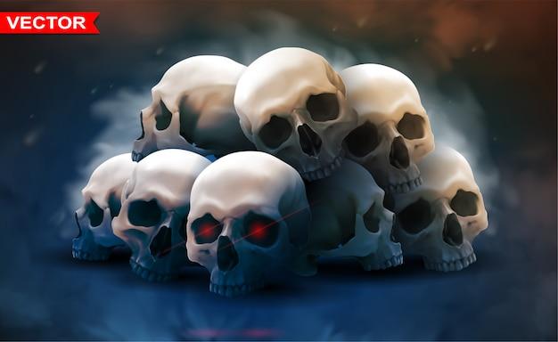 Szczegółowa grafika fotorealistyczne ludzkie czaszki