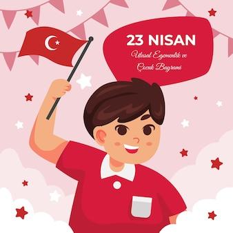 Szczegółowa ilustracja 23 nisan