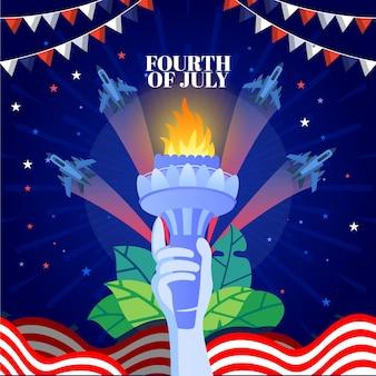 Szczegółowa ilustracja 4 lipca - dzień niepodległości