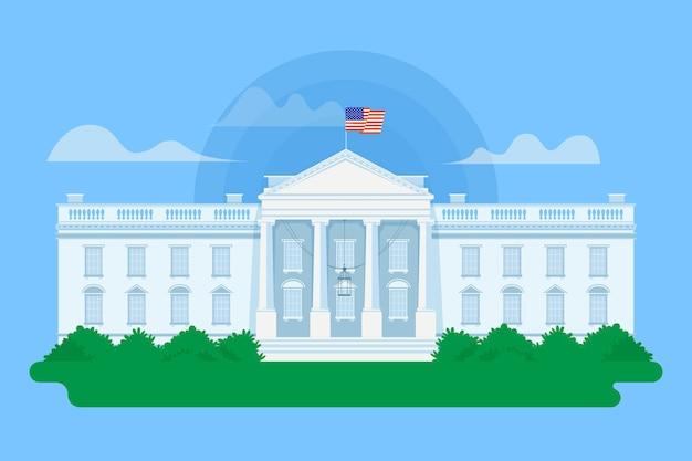 Szczegółowa ilustracja biały dom