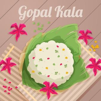 Szczegółowa ilustracja gopalkali
