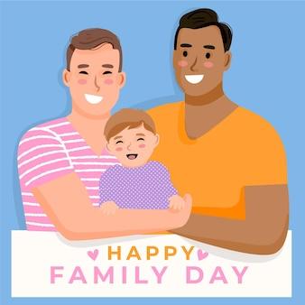Szczegółowa ilustracja międzynarodowy dzień rodzin