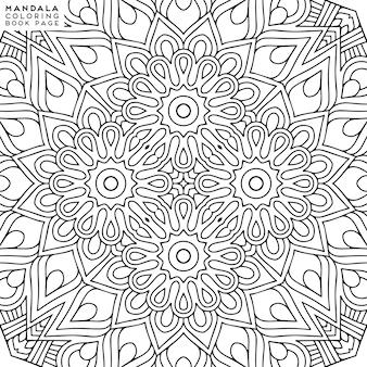 Szczegółowa ilustracja ozdobny mandali